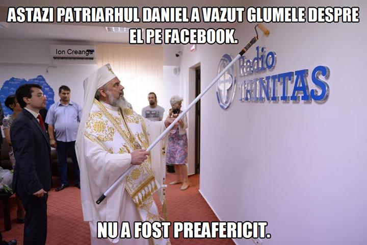 Când patriarhul Daniel vede glumele despre el